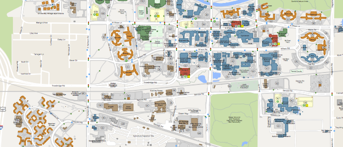 Michigan State University Full Campus PDF Graphic